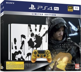 Sony PlayStation 4 Pro - 1TB Death Stranding Limited Edition Bundle weiß/schwarz