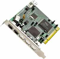 Advance USB 2.0 & IEEE1394 FireWire PCI, 2x FireWire/3x USB2.0 external, 1x USB2.0 internal