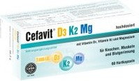 Cefak Cefavit D3 K2 Mg 7.000 I.E. Hartkapseln, 60 Stück