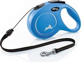 flexi New Classic M, 8m, rope, blue