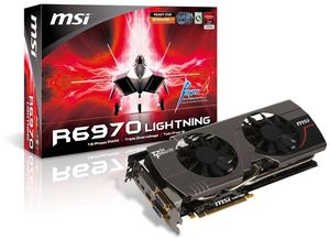 MSI R6970 Lightning, Radeon HD 6970, 2GB GDDR5, 2x DVI, HDMI, 2x mini DisplayPort (V237-005R)