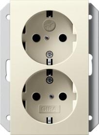 Gira SCHUKO-Doppelsteckdose 16 A 250 V, cremeweiß (2731 01)