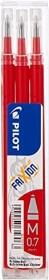Pilot replacement mine FriXion ball BLS-FR7-S3-R, 0.7mm red, 3-pack