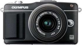 Olympus PEN E-PM2 schwarz mit Objektiv M.Zuiko digital 14-42mm II (V206021BE010)