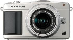 Olympus PEN E-PM2 silber mit Objektiv M.Zuiko digital 14-42mm II (V206021SE010)