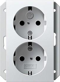 Gira SCHUKO-Doppelsteckdose 16 A 250 V, reinweiß (2731 03)