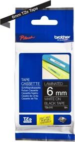 Brother TZe-315 label-making tape 6mm, white/black (TZE315)
