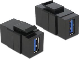 DeLOCK Keystone module USB-A 3.0 socket via USB-A 3.0 socket, black (86369)