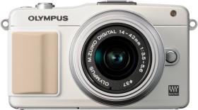 Olympus PEN E-PM2 weiß mit Objektiv M.Zuiko digital 14-42mm II (V206021WE010)