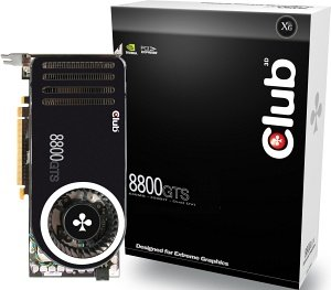 Club 3D GeForce 8800 GTS (G80), 320MB DDR3, 2x DVI, TV-out, PCIe (CGNX-GTS8820)