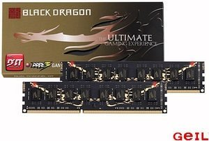 GeIL Black Dragon DIMM kit 8GB, DDR3-1333, CL7-7-7-24 (GB38GB1333C7DC)