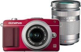 Olympus PEN E-PM2 rot mit Objektiv M.Zuiko digital 14-42mm II und M.Zuiko digital ED 40-150mm (V206022RE000)