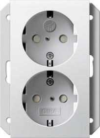 Gira SCHUKO-Doppelsteckdose 16 A 250 V, reinweiß (2731 27)