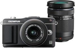 Olympus PEN E-PM2 schwarz mit Objektiv M.Zuiko digital 14-42mm II und M.Zuiko digital ED 40-150mm (V206022BE000)
