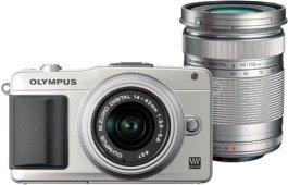 Olympus PEN E-PM2 silber mit Objektiv M.Zuiko digital 14-42mm II und M.Zuiko digital ED 40-150mm (V206022SE000)