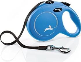 flexi New Classic L, 8m, belt, blue