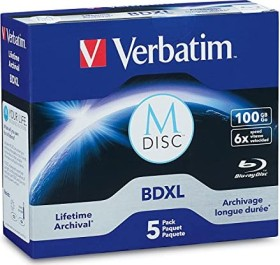 Verbatim M-DISC BD-R XL 100GB 4x, 5er Jewelcase (98913)