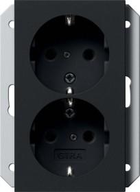 Gira SCHUKO-Doppelsteckdose 16 A 250 V, schwarz (2731 005)
