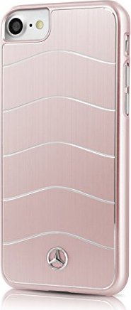 Mercedes-Benz Hard Cover aluminium Wave VIII for Apple iPhone 7 rose gold (MEHCP7CUSALRG)