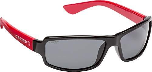 Cressi Ninja Sonnenbrille, Schwarz/Verspiegelt Linsen Grün, One Size
