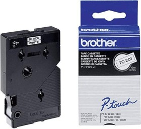 Brother TC-201 12mm, schwarz/weiß (TC201)