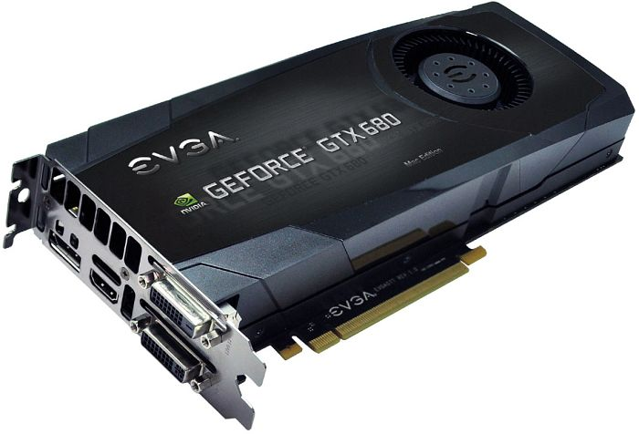 EVGA GeForce GTX 680 Mac Edition, 2GB GDDR5, 2x DVI, HDMI, DisplayPort (02G-P4-3682-KR)
