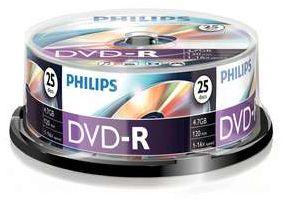 Philips DVD-R 4.7GB, 25er-Pack (DM4S6B25F)