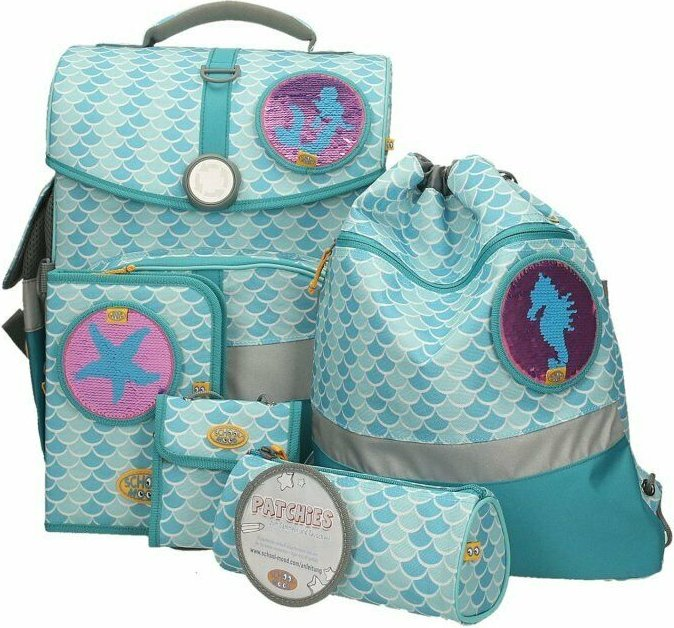 School-Mood Timeless eco Emily School Bags set 6-piece. (3501-12-823)