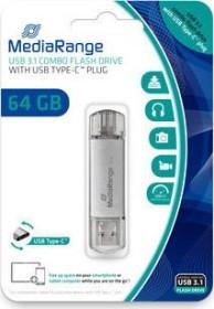 MediaRange Kombo-Speicherstick 64GB, USB-C 3.0/USB-A 3.0 (MR937)