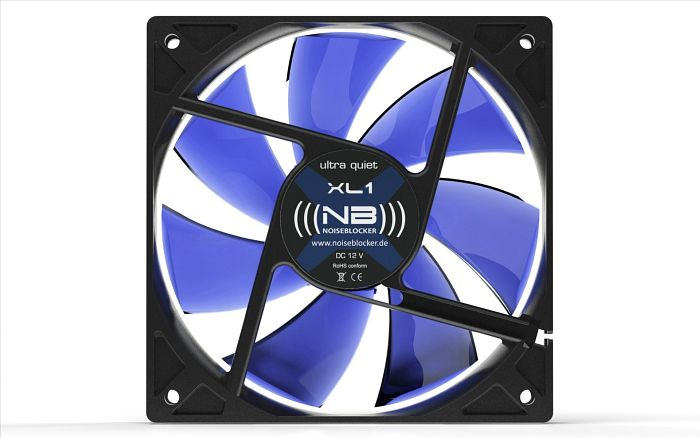 Noiseblocker NB-BlackSilentFan XL1 Rev. 3.0, 120x120x25mm, 1000rpm, 69m³/h, 13dB(A)