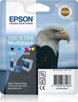 Epson T007BA Tinte schwarz/farbig Multipack (C13T007401BA/C13T00740310)