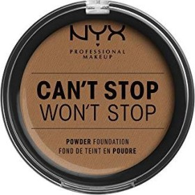 NYX Can't Stop Won't Stop Powder Foundation mahogany, 10.7g