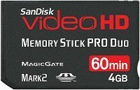 SanDisk Memory Stick [MS] Pro Duo Video HD 4GB (SDMSPDHV-004G)