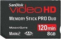 SanDisk Memory Stick [MS] Pro Duo Video HD 8GB (SDMSPDHV-008G)