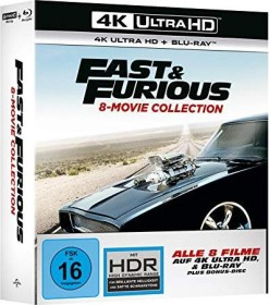 Fast & Furious - 8 Movie Collection (4K Ultra HD)