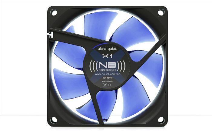 Noiseblocker NB-BlackSilentFan X1 Rev. 3.0, 80mm