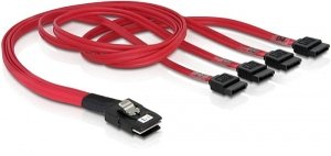 DeLOCK mini SAS x4 (SFF-8087) to 4x SATA cable, 0.5m (83057)