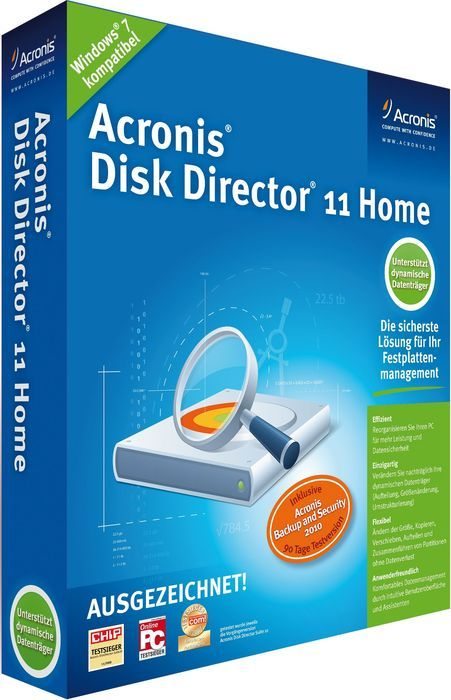 Acronis: Disk Director Home 11.0 (German) (PC) (DDUMB2DES)