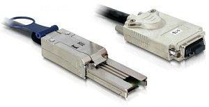 DeLOCK mini SAS x4 (SFF-8088) auf InfiniBand (SFF-8470) Kabel, 1m (83062)