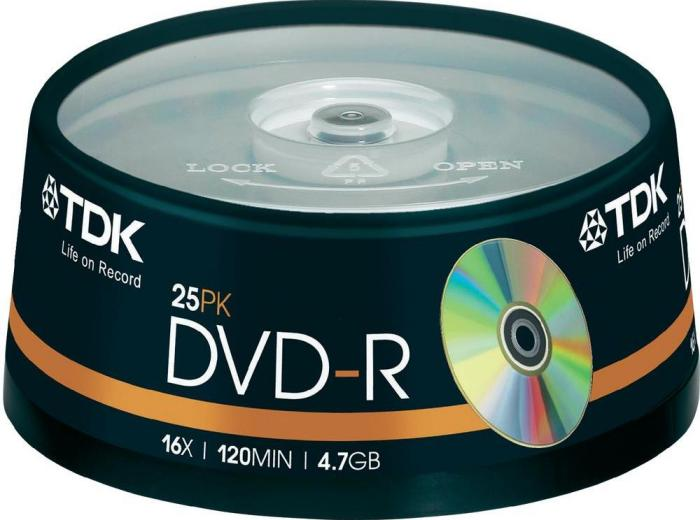 TDK DVD-R 4.7GB 16x, 25er Spindel (T19416)