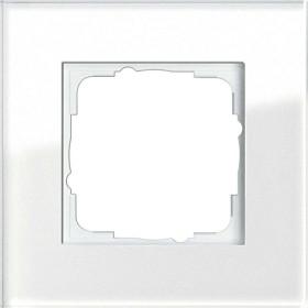 Gira Esprit Abdeckrahmen Glas Weiß 1fach (0211 12)