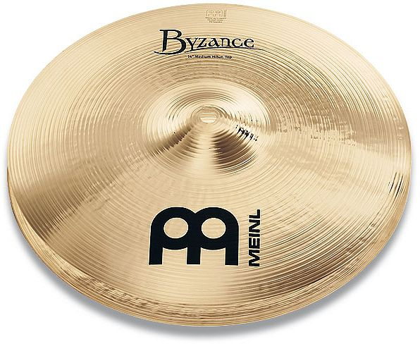 "Meinl cymbals Byzance Brilliant Medium Hi-Hat 14"" (B14MH-B)"