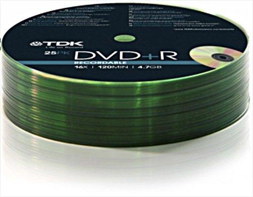TDK DVD+R 4.7GB 16x, 25er Shrink (T78649)