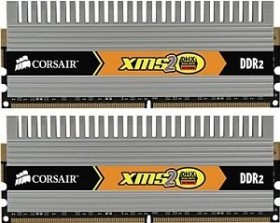 Corsair XMS2 DHX Series DIMM Kit 2GB, DDR2-800, CL4-4-4-12 (TWIN2X2048-6400C4DHX)