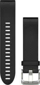 Garmin Ersatzarmband QuickFit 20 Silikon schwarz/silber (010-12491-12)