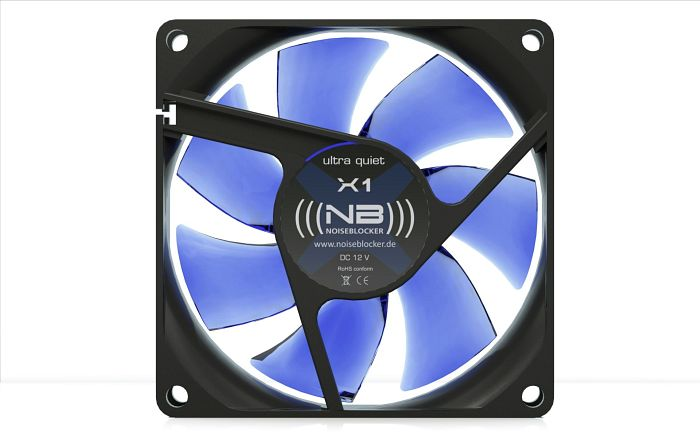 Noiseblocker NB-BlackSilentFan X2 Rev. 3.0, 80x80x25mm, 1800rpm, 45m³/h, 18dB(A)