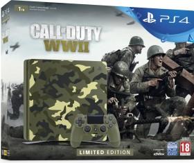 Sony PlayStation 4 Slim - 1TB Call of Duty: WWII Limited Edition Bundle grün camouflage