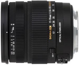Sigma AF 17-70mm 2.8-4.0 DC Asp IF macro OS HSM for Nikon F black (668955)