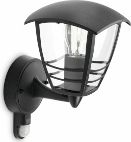 Philips myGarden Creek wall lamp with motion detector black (15388/30/16)