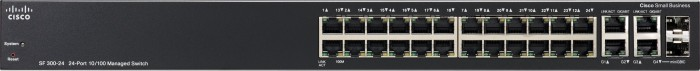 Cisco SF300 Rackmount Managed Switch, 24x RJ-45, 2x RJ-45/SFP (SF300-24/SRW224G4-K9)